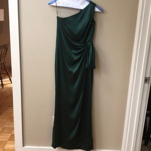Escada Emerald green silk formal dress